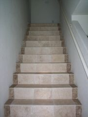 Marble and stone entry stairway - Pacific Beach townhome vacation rental photo