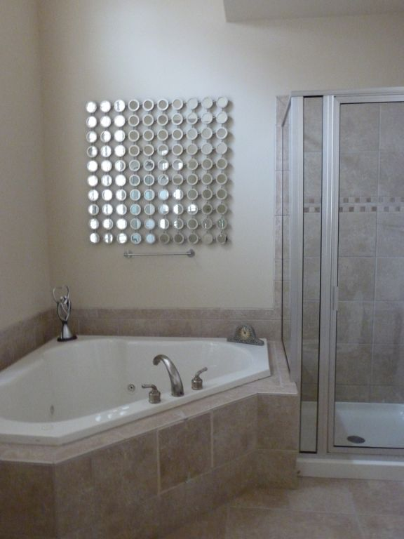 Master Bath with Jacuzzi & Shower.