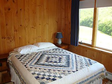 Queen Bedroom with nice view of the Meadow & Mountain