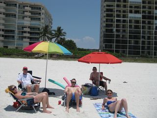 Seawinds condo photo - Some of the umbrellas, chairs, and beach toys for your beach fun in the sun!
