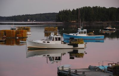 Lobster boats in Friendship Harbor