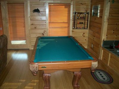 How about a game of Pool before you jump in the Pool downstairs?