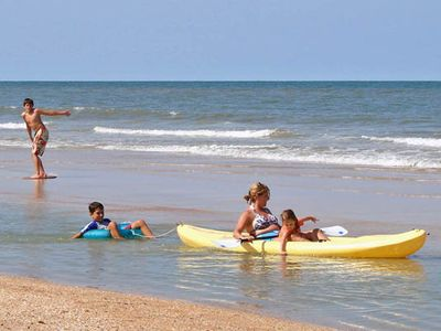 We have tubes, boogie boards, and skim boards and you can rent a kayak nearby!