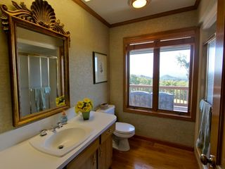 Boone estate photo - Bathroom w/ mountain views!