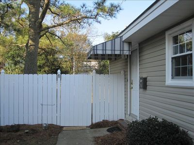 Entrance to 4 bedroom, 21/2 bath Condo with large fenced yard.
