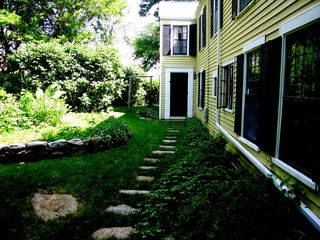 Mattapoisett house photo - Little House Main Entrance in the rear garden.