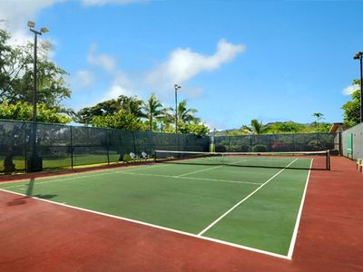 Tennis anyone? There is golf, soccer, and an amazing playscape for children too.