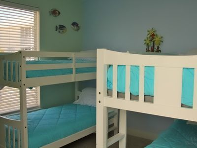 Bedroom #4; 2 sets of bunk beds.