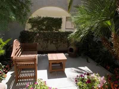Private Secluded Inside Patio with Access to Casita, 2nd Master BR & Condo...