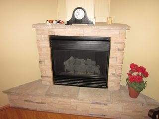 Galena house photo - Gas Fireplace located in lower level entertainment area with pool table