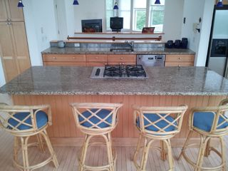 Cape May house photo - Breakfast bar has seating for four. Dining table has seating for six.
