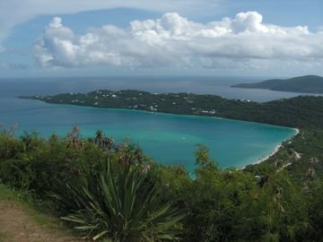 Breathtaking view of Magens Bay...