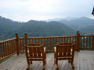 Maggie Valley cabin photo - Mountain view from Wrap Around Deck