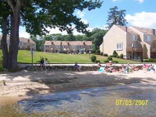 Ossipee Lake townhome photo - Beautiful Private Beach