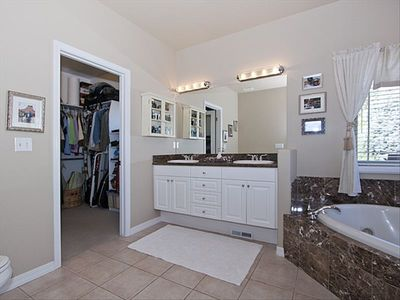Master Bath, Walk in and separate tub/shower