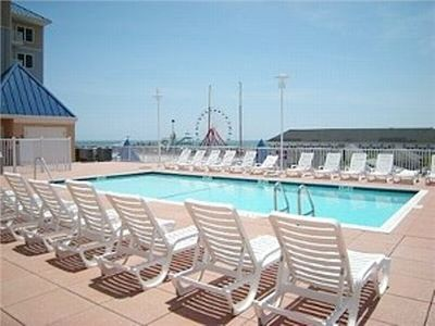 Belmont Towers Ocean City condo rental - Roof Top Pool/Sun deck for enjoyment in addition to the ocean