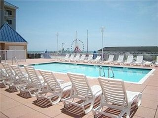 Belmont Towers Ocean City condo photo - Roof Top Pool/Sun deck for enjoyment in addition to the ocean