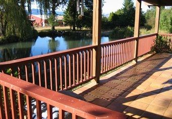 Deck view of pond