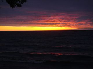 Sunset sitting on the deck - Pulaski house vacation rental photo