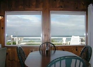 Yachats house photo - Dining Room overlooking deck