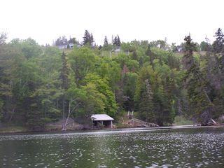 Baddeck house photo - Taken from a kayak below the property