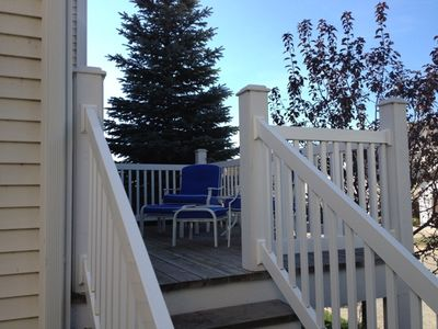 Relax or have a barbecue on the back deck with views of the marina.