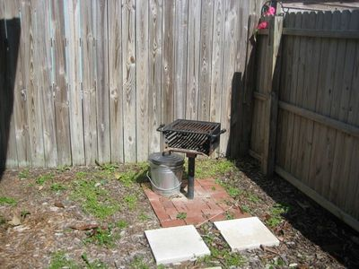 BBQ Grill in Back Yard