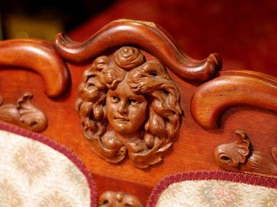 French Quarter style! Furnishings are 150-years-old and beautifully hand-carved.