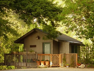 Big Sur cabin rental - Little Gem: private glen terrace and wrap around deck, 360 views!