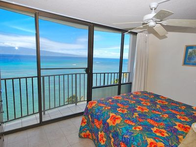 Unforgettable Views from Master Bedroom Northward to Island of Molokai