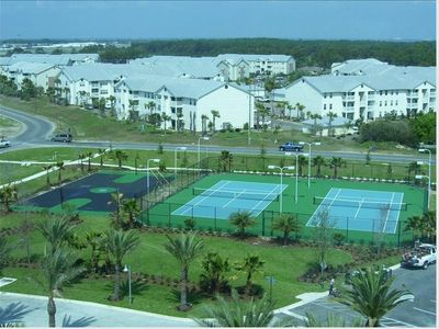 Palms of Destin condo rental - Basketball and Tennis Courts are ready for your use.
