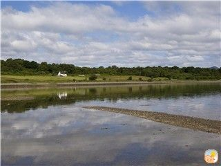 Oban, Isle of Mull & Lorn farmhouse rental - Seabank Farmhouse from shore of Loch Creran
