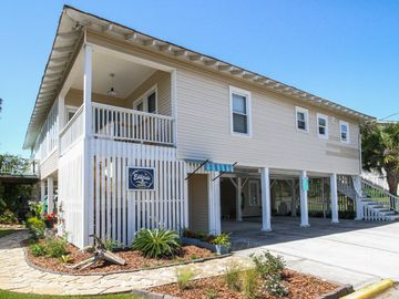 Tybee Island cottage rental - Welcome to Ebbtide! One house back from beach; steps to beach cross over bridge!