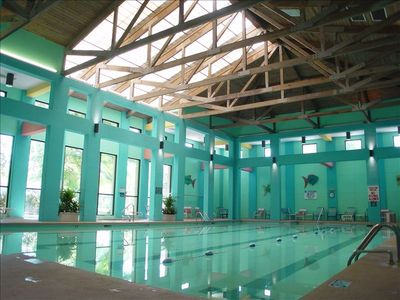 . . .  with an indoor pool, sauna, & hot tube plus racquetball *