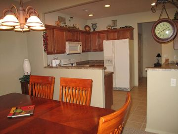 Dining room seating for 8 and spacious kitchen