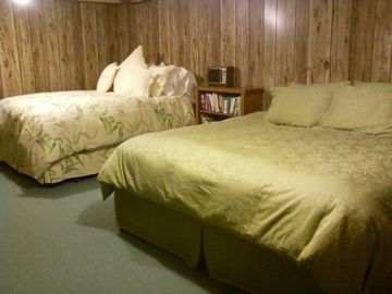 bedroom downstairs, king temperpedic and queen bed
