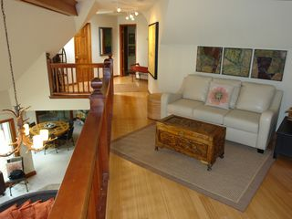Big Canoe house photo - Upstairs lounging loft overlooking den with great views.