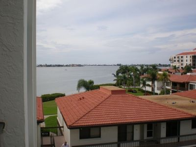 This is our balcony view of Boca Ciega Bay on the left