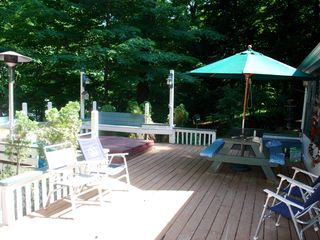 South Haven house photo - The deck and hot tub area