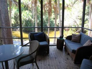 Kiawah Island cottage photo - Screen Porch with Lagoon View
