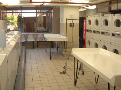 The on-site laundry room is open 24 hours a day