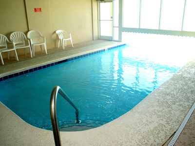 Indoor pool....swim out to the outdoor pool.