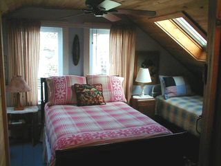 Upstairs back bedroom with skylight - Old Orchard Beach house vacation rental photo