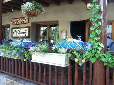 Several of Santa Fe's best restaurants are a short walk from our home.