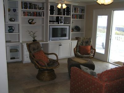 South Padre Island house rental - Sofa Sleeper, Comfy Chairs Swivel and Rock, View