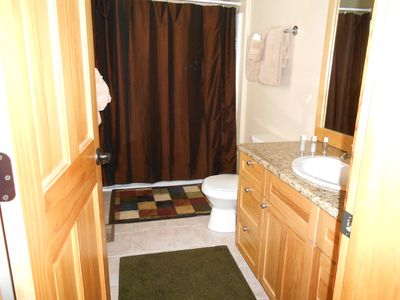 Queen Master Bath has tub/shower combination