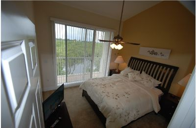 Master bedroom 1 king, LCD-TV,large balcony with view of waterways & Tampa bay