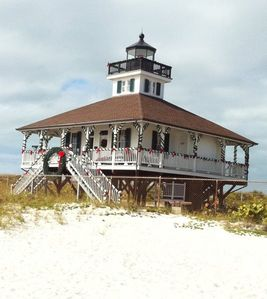 Lighthouse Museum during Christmas, Gasparilla State Park