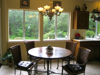 Breakfast Area With Copper Table Top - One of Three Dining Areas