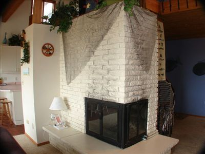 Fireplace in the Family Room